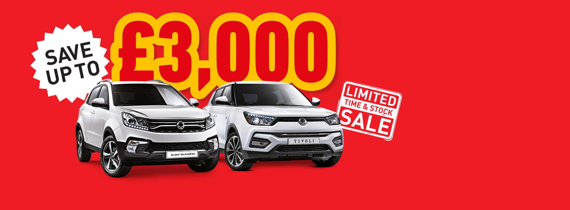 <b>Save up to<br/> an amazing<br/> £3000</b>